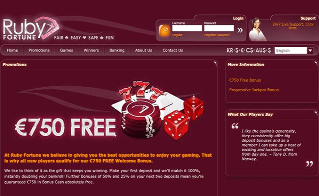 Ruby Fortune Mobile - Here are the top 5 online casinos for women!