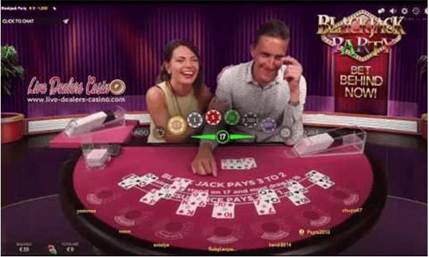 live blackjack party