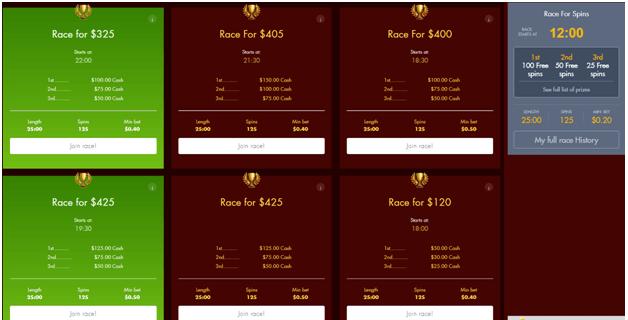 Pokies races at online casinos