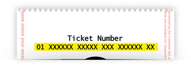 Enter your ticket number to check results on web