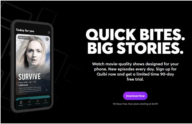 Quibi App download Australia