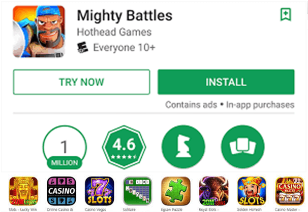 Install free game apps