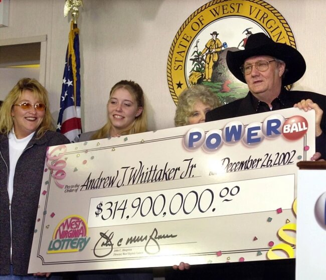 Jack Whittaker of West Virginia won a massive amount in 2002