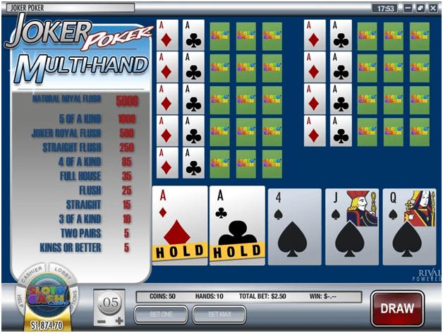 Joker Poker Multihand poker