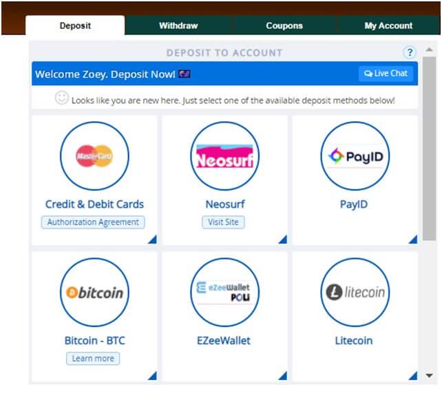 PayID deposits