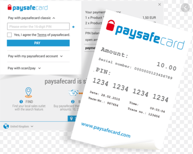 Paysafe card casinos