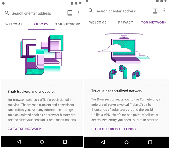 Tor Android App Features