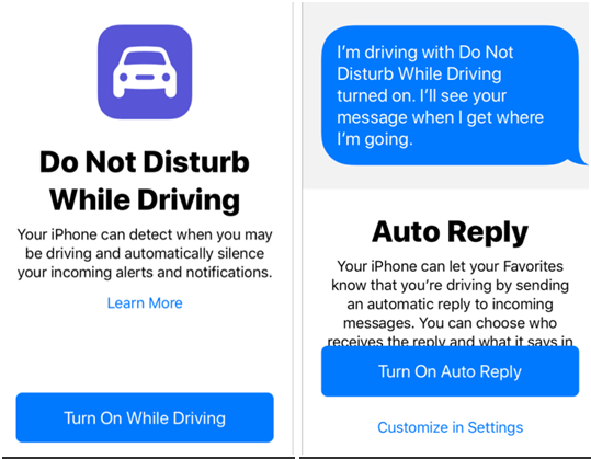 How to avoid the temptation to use mobile on roads?