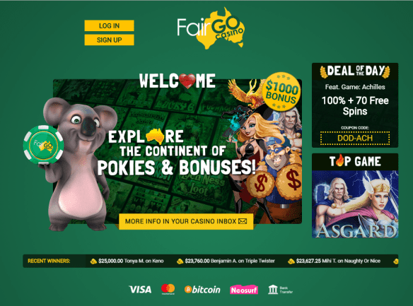 Fair Go casino to play pokies in AUD