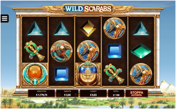 Wild Scarabs game symbols