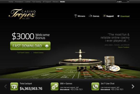 casino tropez 3000 welcome bonus