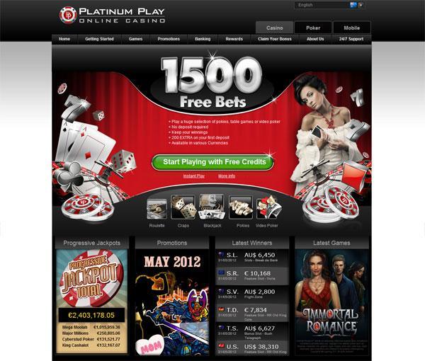 platinum casino 1500 bets