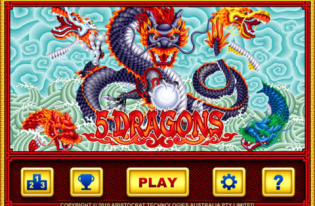 What is the name of the pokie game where you need to get 3 dragons to get a feature