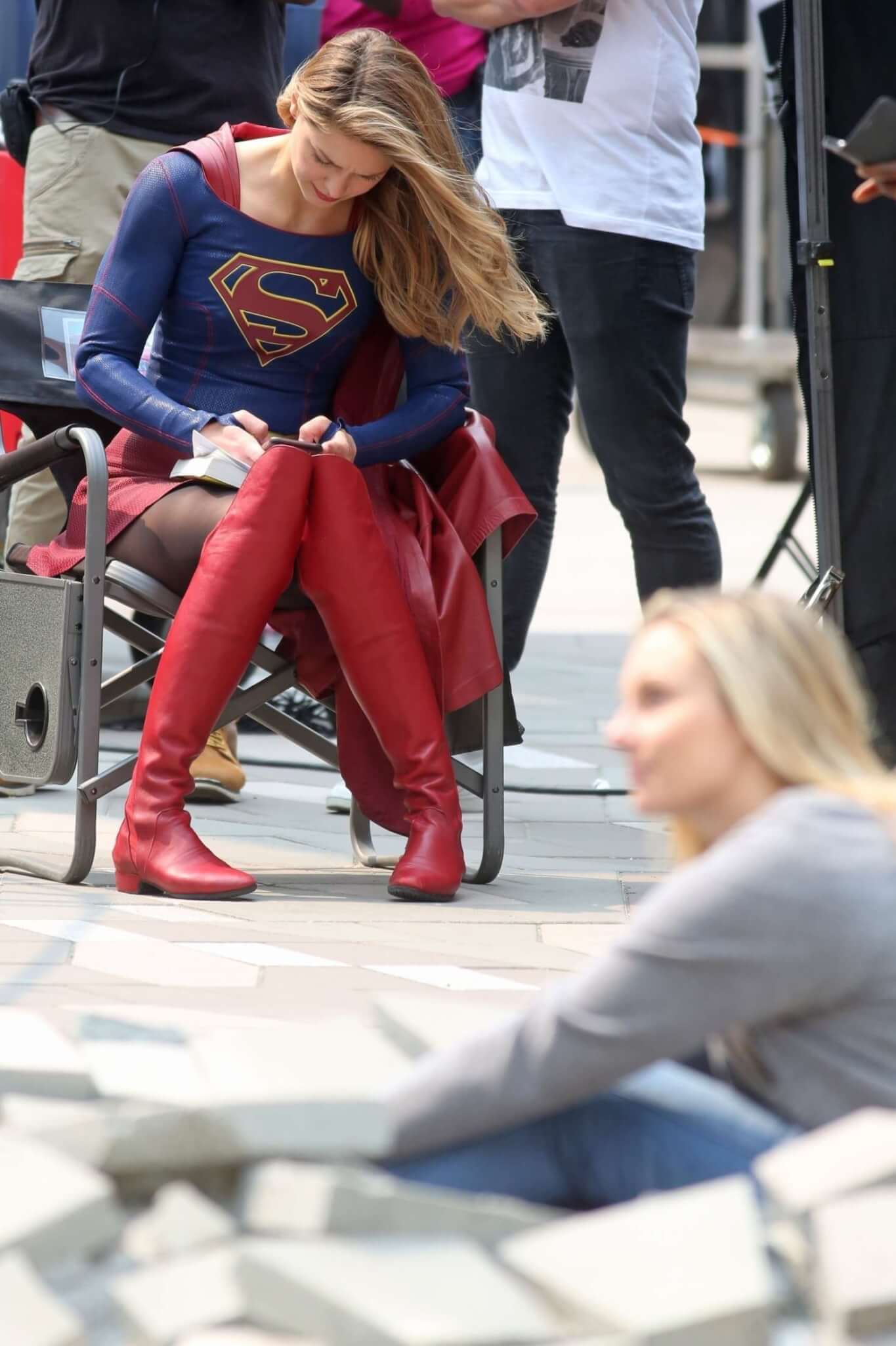 MelissaBenoistFilmingSupergirl457  PokingEye  Celebrity Fashion Gallery