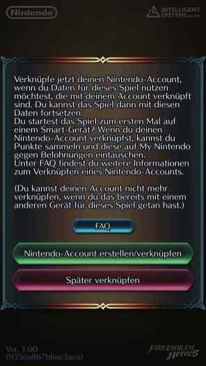 Verknüpfung mit Nintendo Account