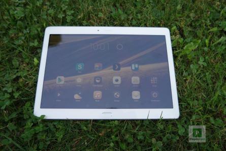 Tablet eingeschaltet im edlen-Gold-Design