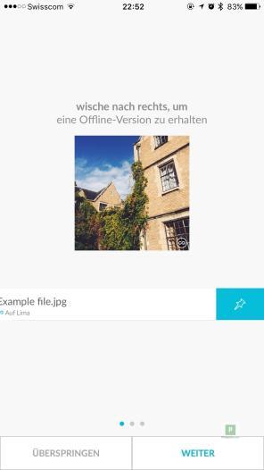 Beispielbild offline verfügbar machen