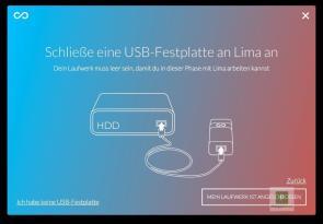 Festplatte über den USB Port anschliessen
