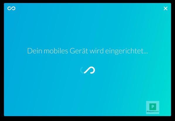 Das mobile Gerät einrichten