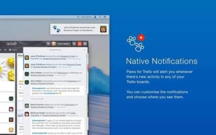 Native Notifications mit Paws für Trello