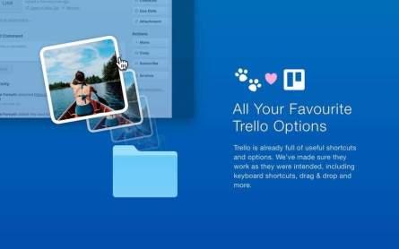 Alle von Trello gewohnten Funktionen sind verfügbar