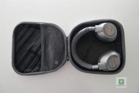 Die komplette Box mit Kopfhörer und Kabel