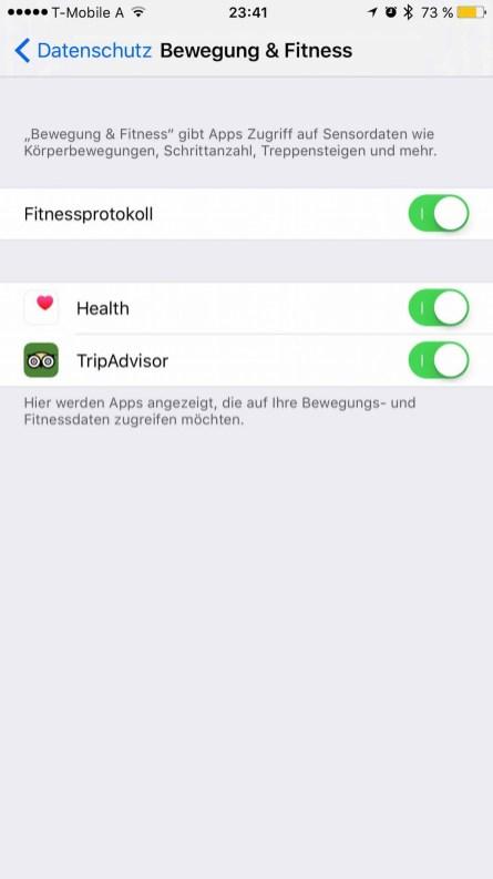 Tutorial - iPhone Fitnessdaten