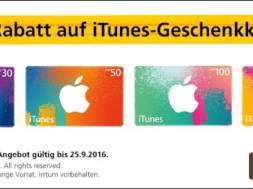 10% Rabatt auf iTunes Gutscheinkarten