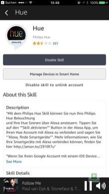 Philips Hue Smart Home integration