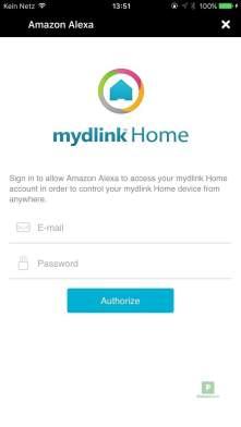 einloggen fürs verbinden mit Alexa