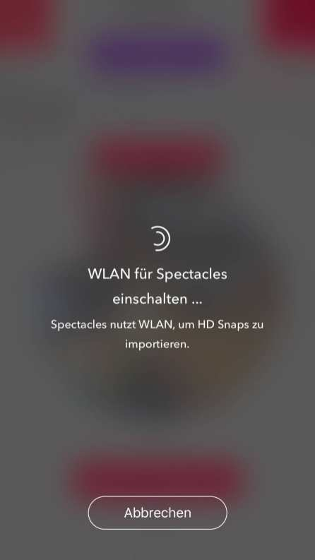 Wlan Verbindung für HD Snips