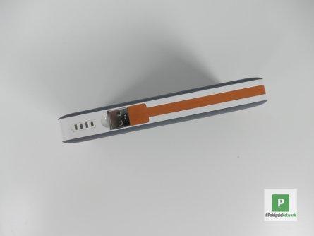Das integrierte Kabel und die Status LED