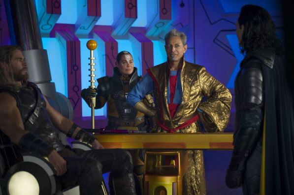 Thor - Chris Hemsworth, Grandmaster - Jeff Goldblum