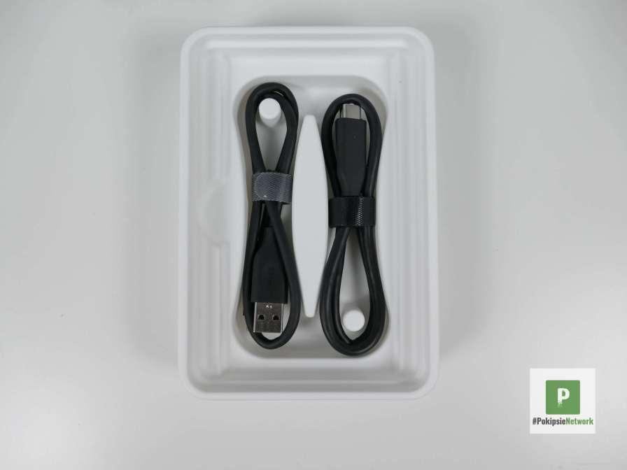 Die beiden Kabel in der Verpackung