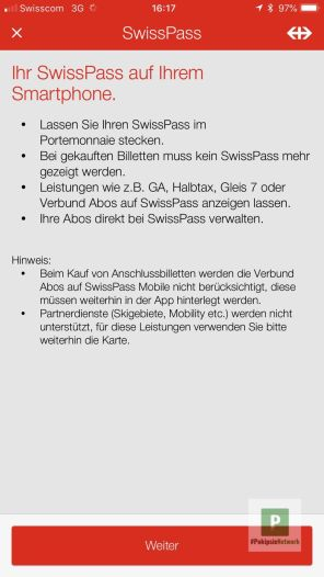SwissPass auf dem Smartphone