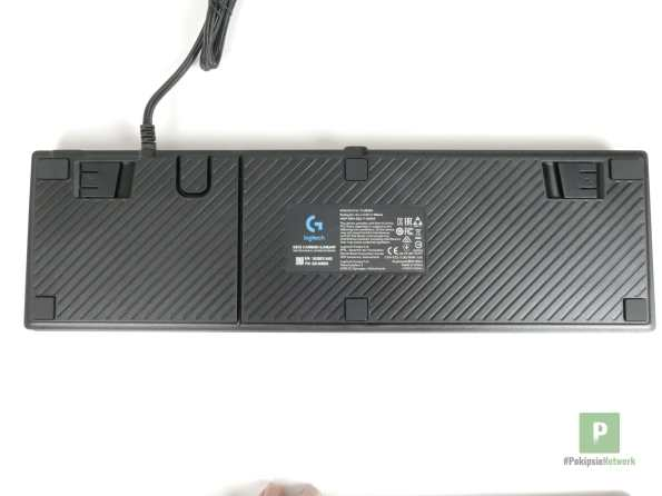 Die Unterseite der Tastatur