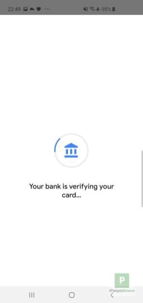 Die Bank wird verifiziert