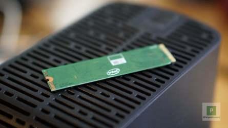Intel 660P SSD Rückseite