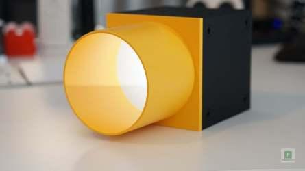 Gebündeltes Licht in Gelb