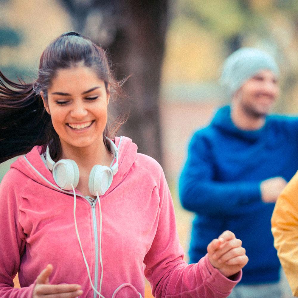 Running with friends helps when running sucks