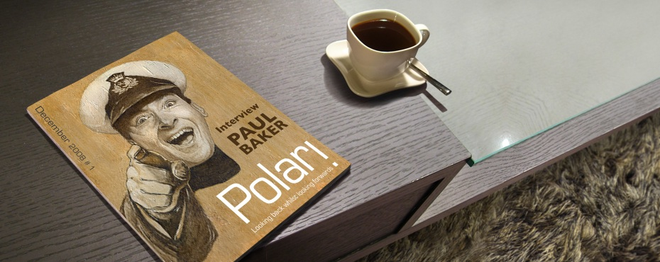 Polari Magazine issue one, on a coffee table