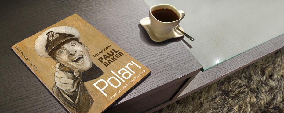 Polari Magazine issue one, on a coffee table