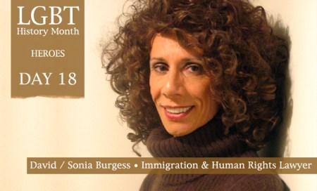 David Sonia Burgess, LGBT History Month Heroes 2012, Polari Magazine