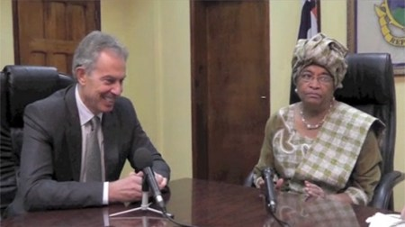 Tony Blair & Ellen Johnson Sirleaf