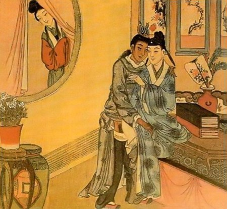 Woman Spies on Man and his Lover, Queer History: Imperial China