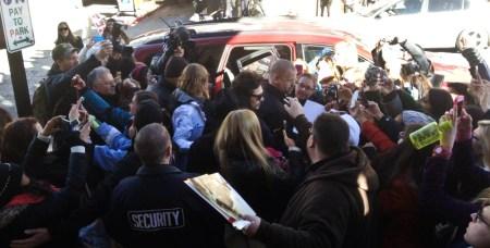 James Franco mobbed, Sundance Film Festival