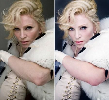 Madonna, Photoshopped