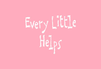 """David Shenton cartoon title which reads """"Every Little Helps"""""""