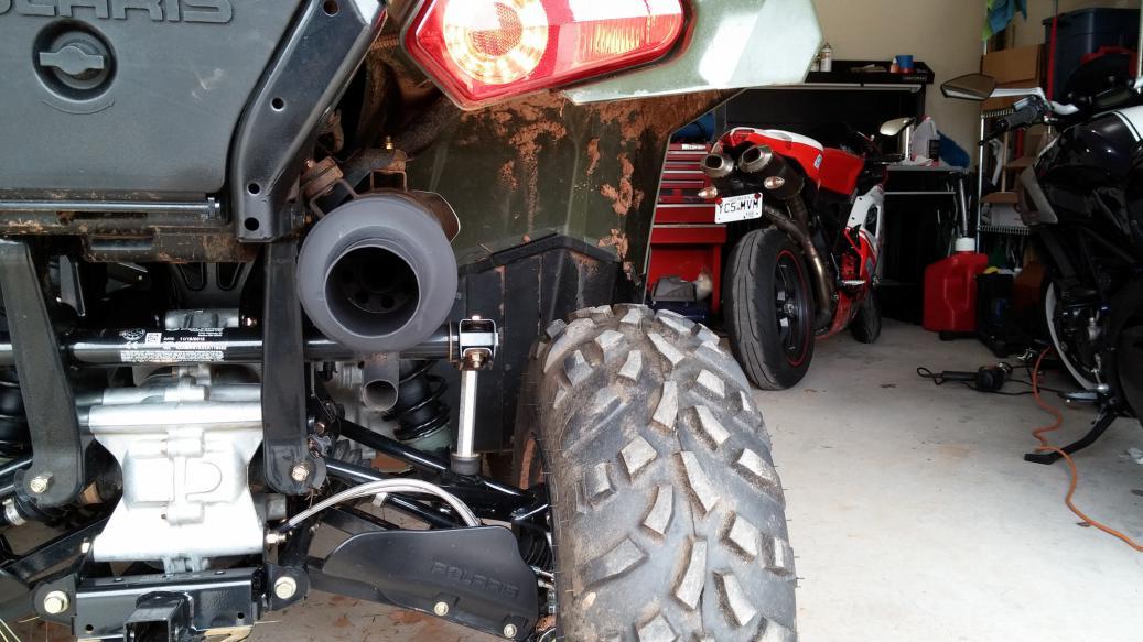 sportsman 570 stock exhaust modded