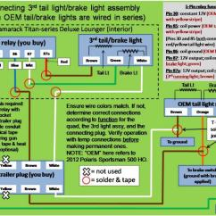 Wiring Diagram For A Trailer Plug 7 Pin York Heating And Air Conditioning Diagrams How To Make That Led 3rd Brake Light Work! - Polaris Atv Forum